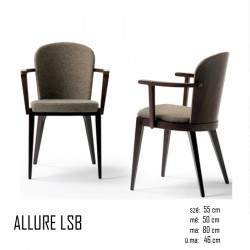 025 Allure LSB karfás szék 03 Favázas étkezőszékek Olasz modern stílus