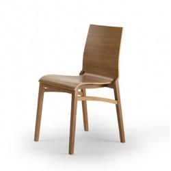 025 Flex S1 szék 03 Favázas étkezőszékek Olasz modern stílus