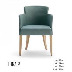 025 Luna P karosszék 05 Favázas karosszékek Olasz modern stílus
