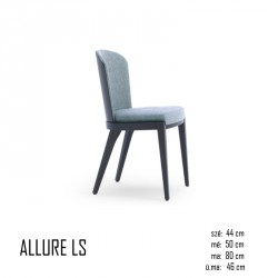 025 Allure LS szék 03 Favázas étkezőszékek Olasz modern stílus