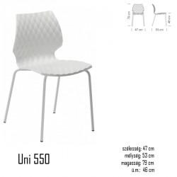 040 Uni 550 szék 05 Műanyag karosszékek Kert, wellness