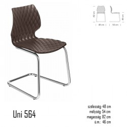 040 Uni 564 szék 03 Műanyag székek Olasz modern stílus