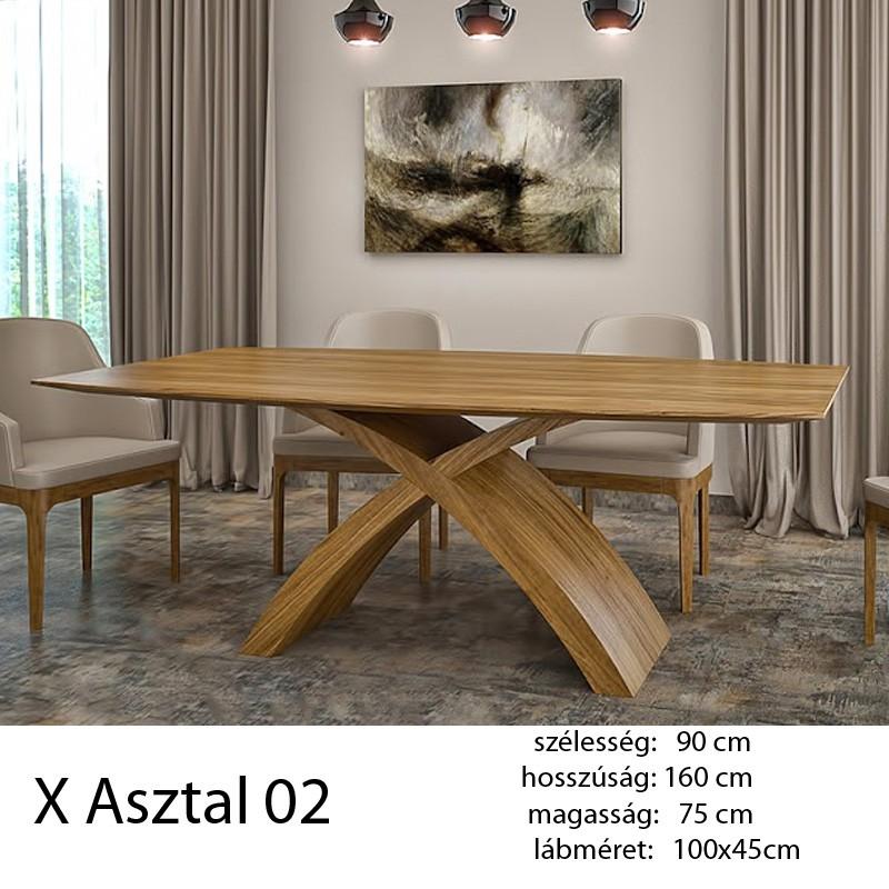703 X 02 Étkezőasztal Hazai Tölgy