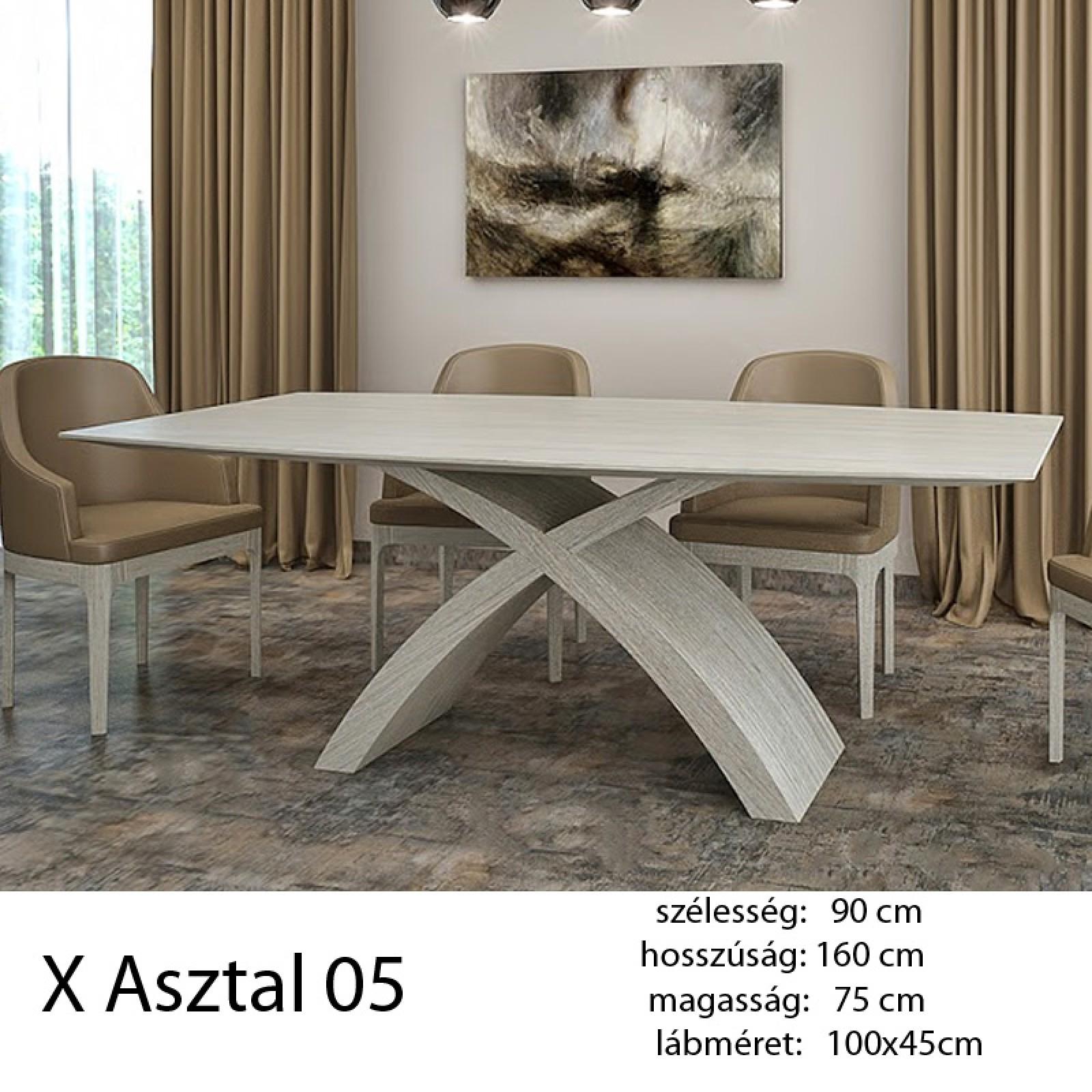 703 X 05 Étkezőasztal Fehér tölgy Alpi 10.82 - 11 HAZAI TERMÉK ...