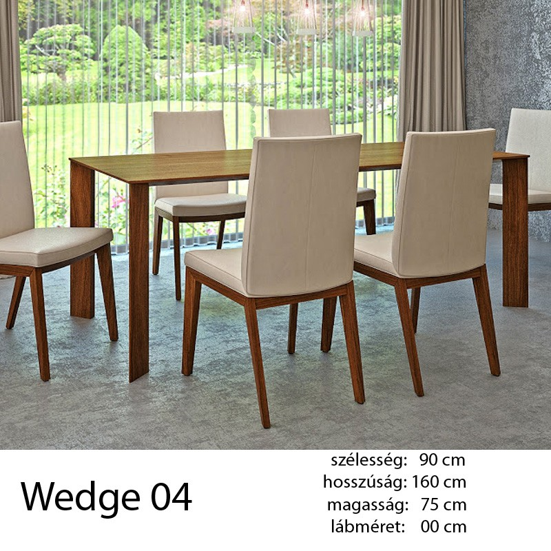 703 Wedge 04 Étkezőasztal Vegyes tölgy