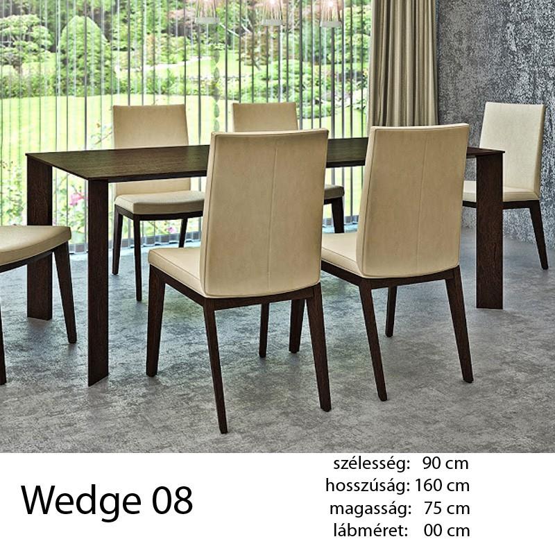 703 Wedge 08 Étkezőasztal Füstölt feketetölgy