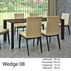703 Wedge 08 Étkezőasztal Füstölt feketetölgy 11 HAZAI TERMÉK Hazai termék