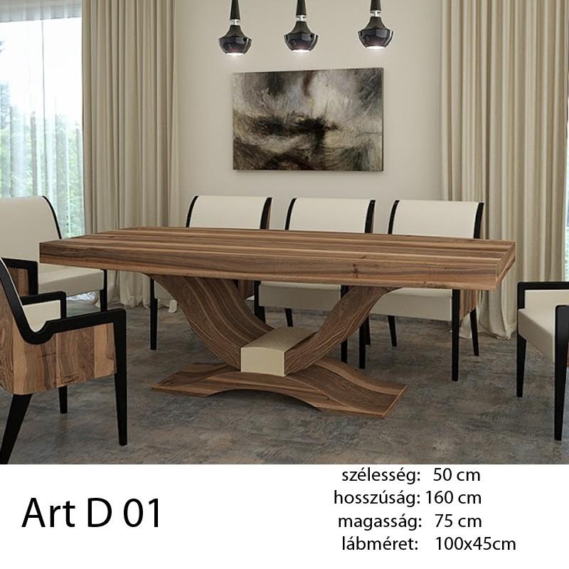 703 Art Deco 01 Étkezőasztal Hazai Dió