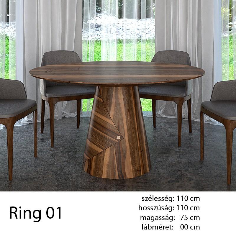 703 Ring 01 Kör Étkezőasztal Hazai Dió