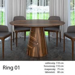 703 Ring 01 Kör Étkezőasztal Hazai Dió 11 HAZAI TERMÉK Hazai termék