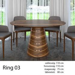703 Ring 03 Kör Étkezőasztal Amerikai Dió 11 HAZAI TERMÉK Hazai termék