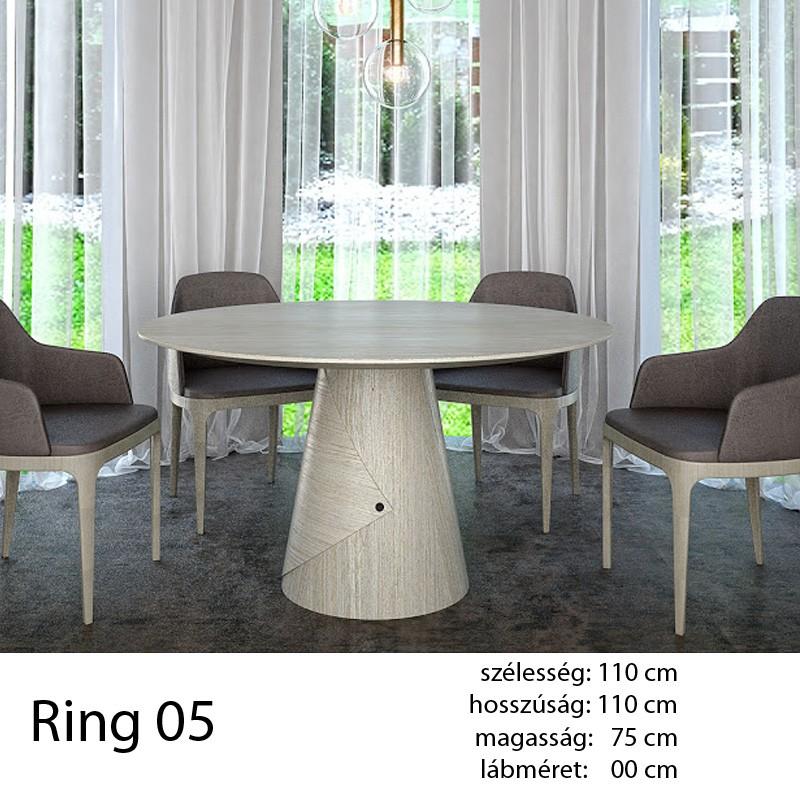 703 Ring 05 Kör Étkezőasztal Fehér Alpi 10.82