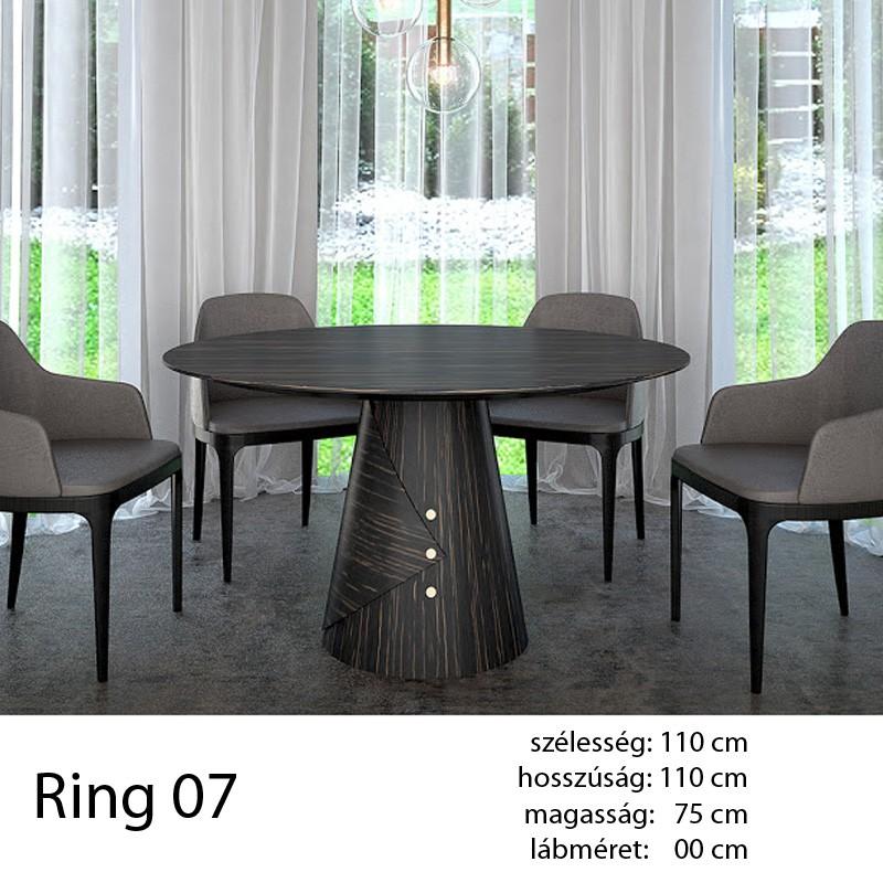 703 Ring 07 Kör Étkezőasztal Ammara Ében Alpi 10.42