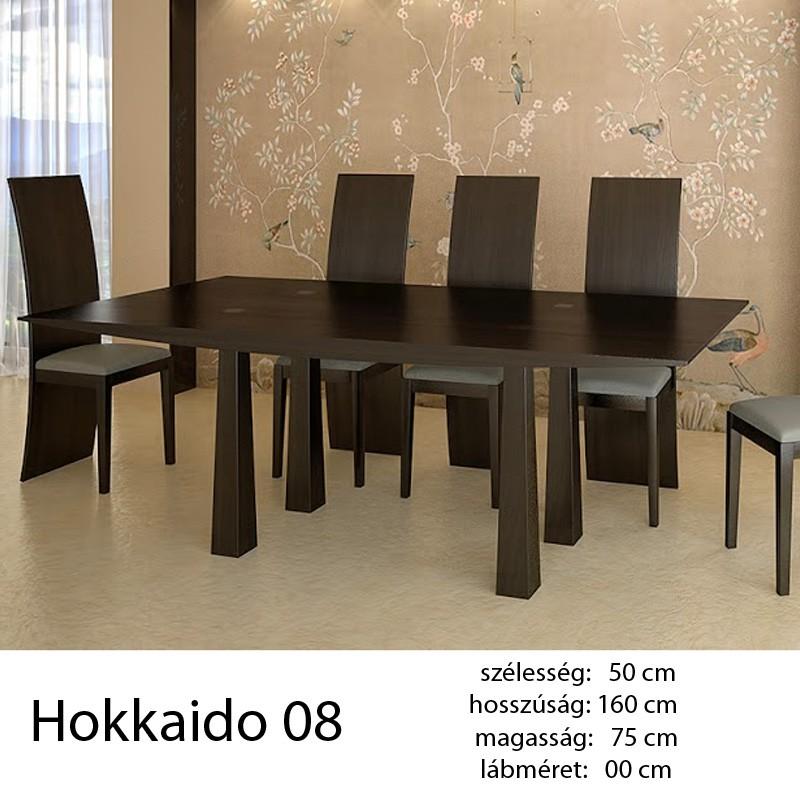 703 Hokkaido 08 Étkezőasztal Füstölt Fekete Tölgy