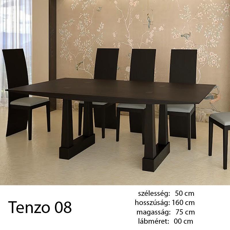 703 Tenzo 08 Étkezőasztal Füstölt Fekete Tölgy.