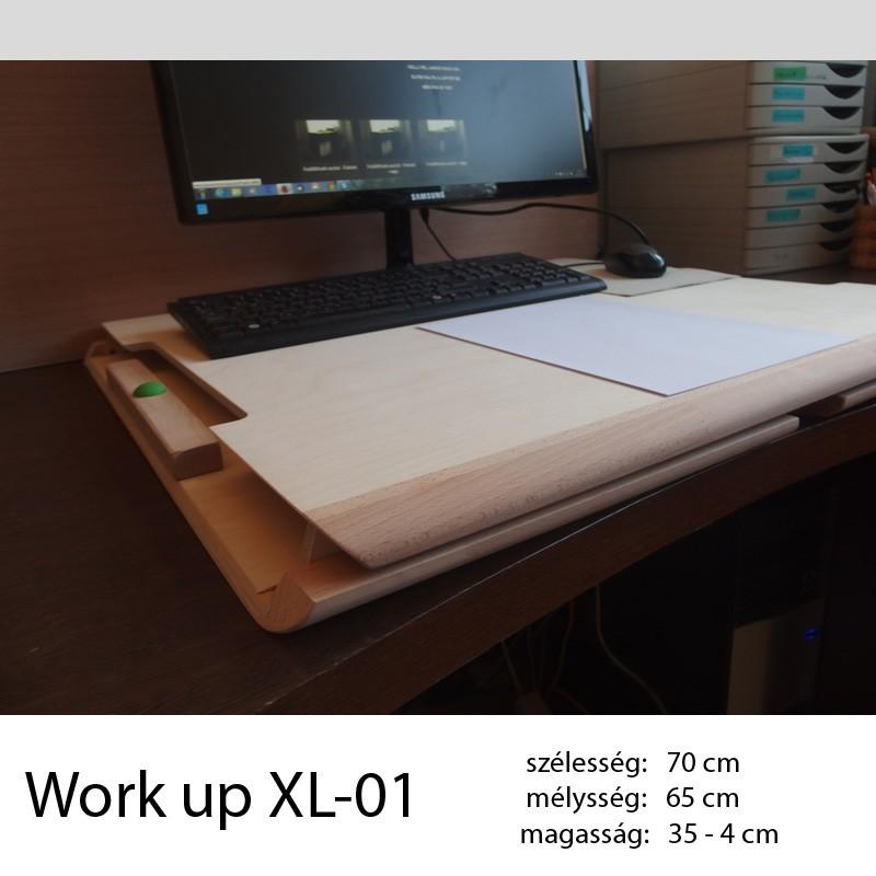 703 Work Up XL-01 Lakkozott nyírfa munkaállomás