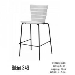 040 Bikini 349 polipropilén bárszék 03 Műanyag székek Kert, wellness