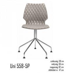 040 Uni 558-5P szék 03 Műanyag székek Olasz modern stílus