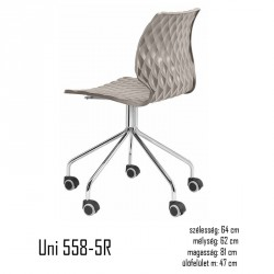 040 Uni 558-5R szék 03 Műanyag székek Olasz modern stílus