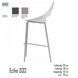 040 Echo 332 bárszék 03 Műanyag székek Olasz modern stílus