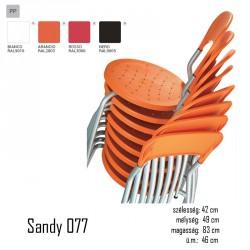 040 Sandy 077 szék 03 Műanyag székek Olasz modern stílus