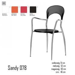 040 Sandy 078 karosszék 03 Műanyag székek Olasz modern stílus