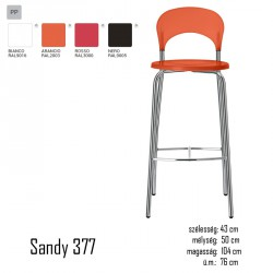 040 Sandy 377 bárszék 03 Műanyag székek Olasz modern stílus