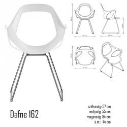 040 Dafne 162 karosszék 03 Műanyag székek Olasz modern stílus