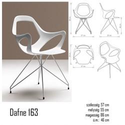 040 Dafne 163 karosszék 03 Műanyag székek Olasz modern stílus