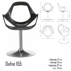 040 Dafne 155 karosszék 03 Műanyag székek Olasz modern stílus