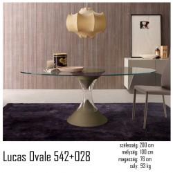 015 Lucas ovális étkezőasztal 02 Étkezőasztalok Olasz modern stílus