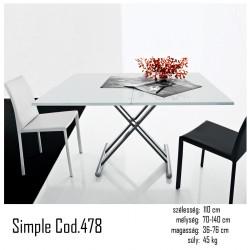 015 Simple átalakítható asztal 02 Étkezőasztalok Olasz modern stílus