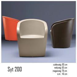040 Syt 200 polietilén kültéri fotel 03 Műanyag vendéglátó bútorok Olasz modern stílus