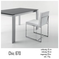 015 Chic szék 03 Fémvázas étkezőszékek Olasz modern stílus