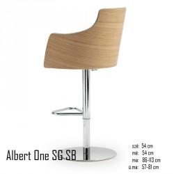 025 Albert One SG SB Metal bárszék  04 Olasz bárszékek Olasz modern stílus