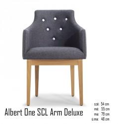 025 Albert One SCL Arm Deluxe karosszék  05 Ügyfélvárok karosszékek Olasz modern stílus