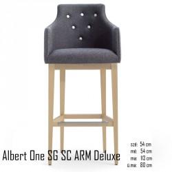 025 Albert One SG SC ARM Deluxe bárszék 04 Olasz bárszékek Olasz modern stílus