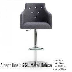 025 Albert One SG SC Metal Deluxe bárszék  04 Olasz bárszékek Olasz modern stílus