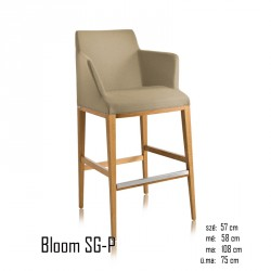 102 Bloom SG-P tűzálló karos bárszék 03 Modern stílusok Olasz modern stílus