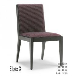 025 Elpis X szék  03 Favázas étkezőszékek Olasz modern stílus