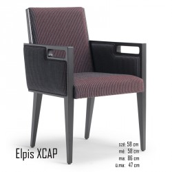 025 Elpis XCAP karosszék 05 Favázas karosszékek Olasz modern stílus