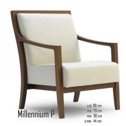 025 Millennium P fotel   05 Favázas karosszékek Olasz modern stílus