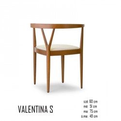 025 Valentina S szék  03 Favázas étkezőszékek Olasz modern stílus