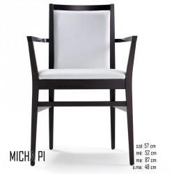 025 Micha PI karosszék 05 Favázas karosszékek Olasz modern stílus