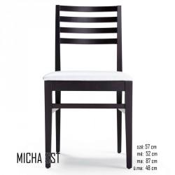 025 Micha SST szék  03 Favázas étkezőszékek Olasz modern stílus