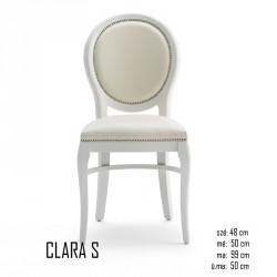 025 Clara S szék  03 Favázas étkezőszékek Olasz modern stílus