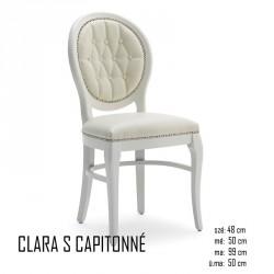025 Clara S Capitonné szék  03 Favázas étkezőszékek Olasz modern stílus