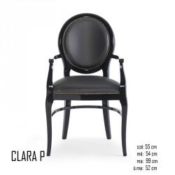 025 Clara P karfás szék  05 Favázas karosszékek Olasz modern stílus