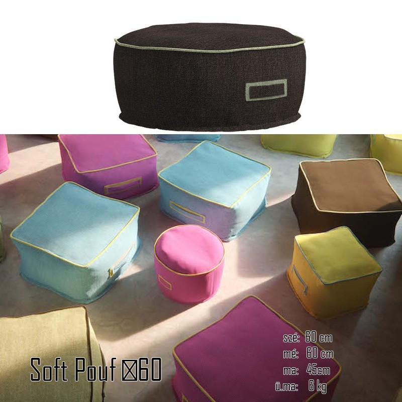 026 Soft kerek puff  ∅ 60 cm