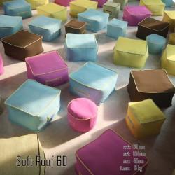 026 Soft szögletes kicsi puff